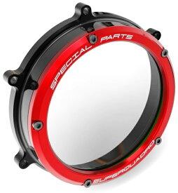 【イベント開催中!】 DUCABIKE ドゥカバイク エンジンカバー クリアークラッチカバー NEWバージョン カラー:レッド PANIGALE 1199 PANIGALE 1299 PANIGALE 959