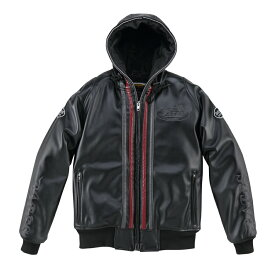 BATES ベイツ ウインタージャケット 合成皮革パーカジャケット(中綿入り) レディース サイズ: L