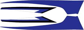 MDF エムディーエフ ステッカー・デカール グラフィックキット アンダーカバーパーツ カラー:ブルー マジェスティS