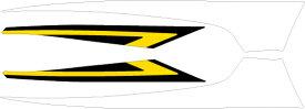 MDF エムディーエフ ステッカー・デカール グラフィックキット アンダーカバーパーツ カラー:パンプキンイエロー マジェスティS