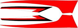 MDF エムディーエフ ステッカー・デカール グラフィックキット アンダーカバーパーツ カラー:レッド マジェスティS