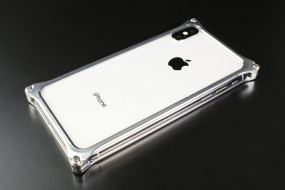 GILD design ギルドデザイン スマートフォンケース ソリッドバンパー for iPhoneX カラー:シルバー iPhoneX