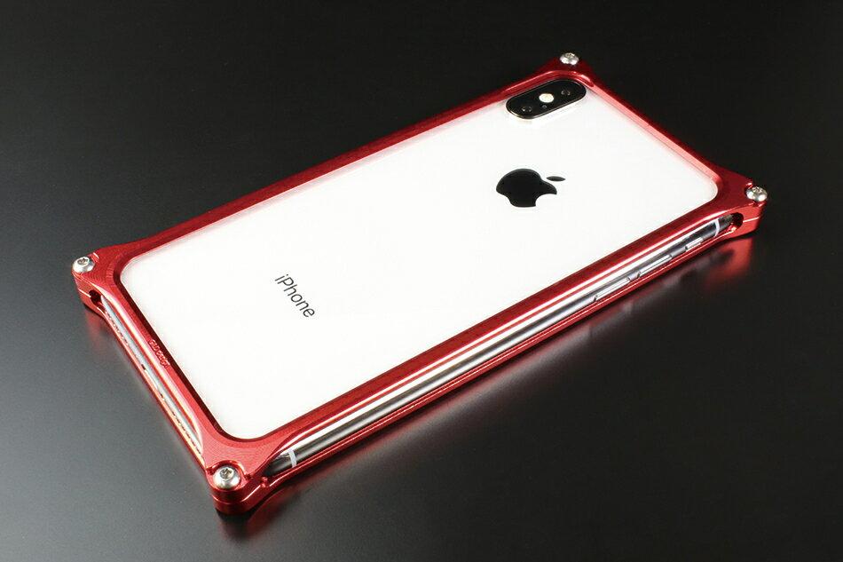 GILD design ギルドデザイン スマートフォンケース ソリッドバンパー for iPhoneX カラー:レッド iPhoneX