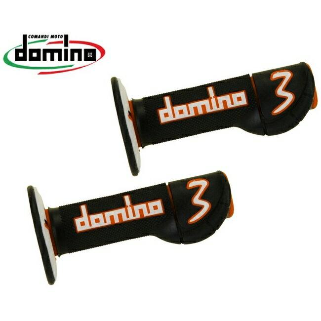 domino ドミノ オフロード experience3 [エクスペリエンス3] (EX3) グリップ カラー:ブラック×オレンジ×グレー
