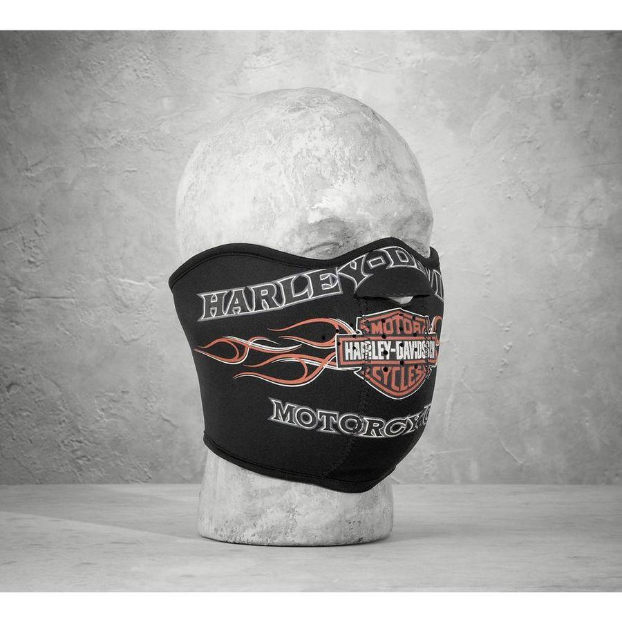 HARLEY-DAVIDSON ハーレーダビッドソン フェイスマスク Men's Pinstripe Flames Face Mask Size:L