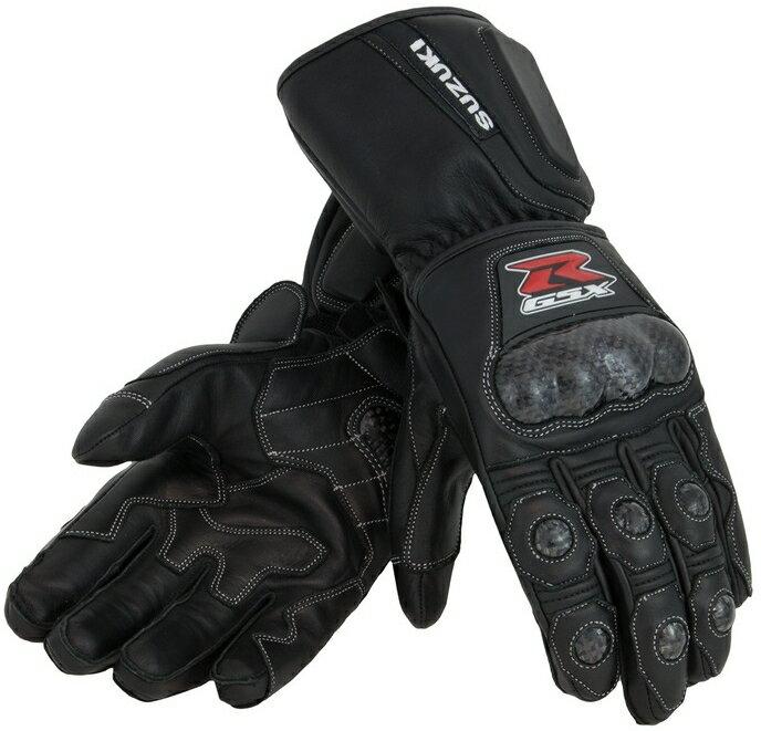 US SUZUKI 北米スズキ純正アクセサリー レザーグローブ GSX-R レザー ガントレットグローブ【Gsx-R Leather Gauntlet Gloves】 Size:MED