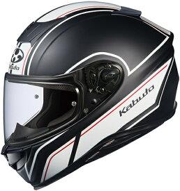 【在庫あり】OGK KABUTO オージーケーカブト フルフェイスヘルメット AEROBLADE-5 SMART [エアロブレード・ファイブスマート フラットブラックホワイト ]ヘルメット サイズ:L