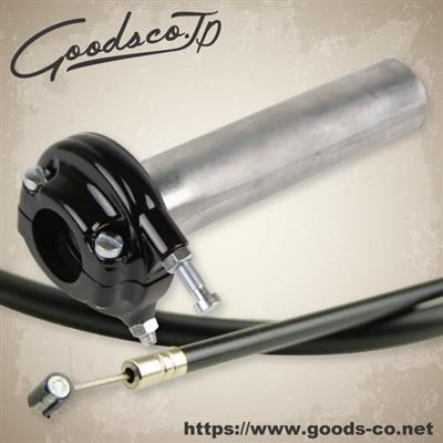 GOODS グッズ スロットルワイヤー・クラッチワイヤー・チョークケーブル AMALスロットル - ブラック&ワイヤー アウター:900mm SR400 SR500