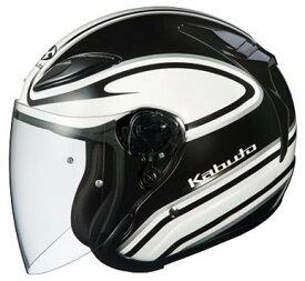 OGK KABUTO オージーケーカブト ジェットヘルメット AVAND-II STAID [アヴァンド・2 ステイド ホワイトブラック] ヘルメット サイズ:L
