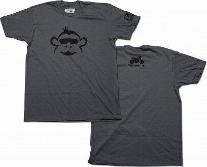 【在庫あり】YOSHIMURA USヨシムラ Tシャツ MONKEY CHARCOAL(モンキー チャコール) サイズ:S