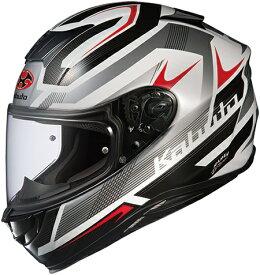 【在庫あり】OGK KABUTO オージーケーカブト フルフェイスヘルメット AEROBLADE-5 RUSH [エアロブレード・ファイブラッシュ ホワイトシルバー ]ヘルメット サイズ:XXL