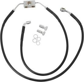 Drag Specialties ドラッグスペシャリティーズ フロントブレーキライン ブラック UP FDC 2012-14 【LINE BRK F FDC 12-14BK UP [1741-3810]】 Dyna Super Glide Custom (EFI) - FXDC 2012 - 2014