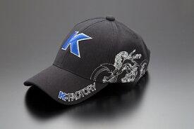 K-FACTORY Kファクトリー ケイファクトリー 帽子 デザインキャップ カラー:ブラック