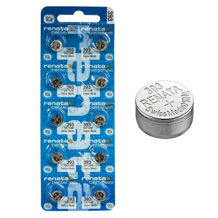 ミスフィット レイ 純正 ボタン電池 RENATA393【10個セット】MISFIT RAY専用 電池 レナター SR754W スイス製 日本代理店正規品