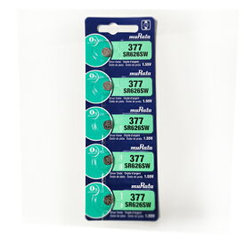 【5粒】muRata(旧:ソニー) SR626SW(377)/sony 377コイン電池 ボタン電池 酸化銀電池 時計用電池 coin cell buttary 1.55V 日本製 郵便定形無料 海外パッケージ 逆輸入品