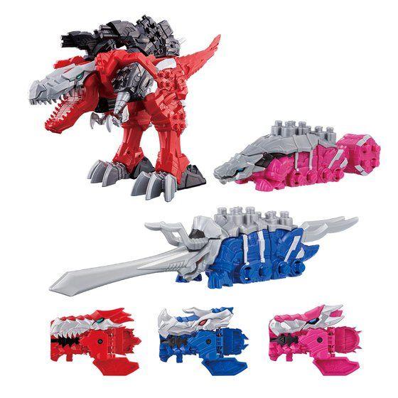 騎士竜戦隊リュウソウジャー 騎士竜シリーズ01&02&03 竜装合体 DXキシリュウオースリーナイツセット