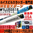 【入荷しました】新基準対応2018リトルリーグ・ルイスビルスラッガーバットSOLO618【おまけ付】WTLUBS618