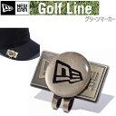 NEW ERA ニューエラ ゴルフ Basic Marker FLAGLOGO ゴールドブラック 11225898 ハットクリップ ベーシックマーカー ゴルフ ...