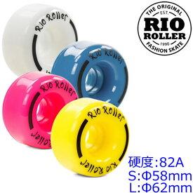 RIO ROLLER クワッドスケート スペアウィール COASTER WHEELS ロゴパターンA 4輪1セット(片足分) ローラースケート アクセサリー 【smtb-k】[%OFF]【楽ギフ_包装】【w49】