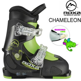 ROXA ロクサ ジュニア スキーブーツ 2019 CHAMELEON ブラック×ライム サイズアジャスト式 子供用 (18-19 2019) フリースタイルスキー ブーツ 【w91】