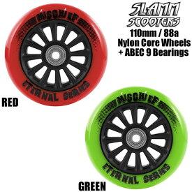 SLAMM SCOOTERS キックボード スペアウィール SL573 Nylon Core 110mm 88a + ABEC 9 Bearings キックスクーター 【C1】【smtb-k】[%OFF]【w08】
