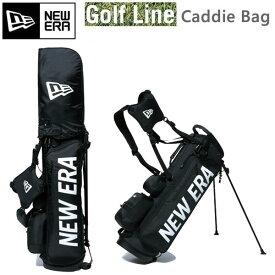 ニューエラ キャディバッグ Caddie Bag STAND スタンド式 ブラック ホワイトプリントロゴ ベーシックポーチ付き 11901502 NEWERA ゴルフ【L1】【w36】