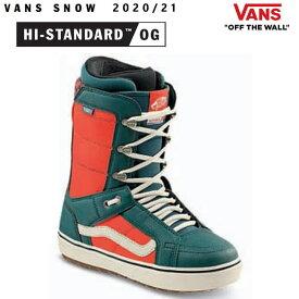 VANS スノーボード ブーツ メンズ HI-STANDARD OG ハイスタンダードOG/ATLANTIC DEEP/ORANGE(20-21 2021)バンズ スノーボード ブーツ【C1】【w28】
