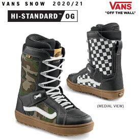VANS スノーボード ブーツ メンズ HI-STANDARD OG ハイスタンダードOG/CAMO/CHECKERBOARD(20-21 2021)バンズ スノーボード ブーツ【C1】【w70】