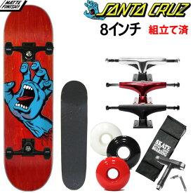サンタクルーズ スケボー コンプリート Santa Cruz  SCREAMING HAND レッドブルー 8x31.6インチ  スケートボード完成品
