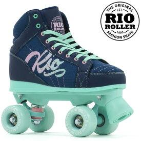 RIO ROLLER クワッドスケート LUMINA Navy-Green RIO240/245 ローラースケート 【smtb-k】[%OFF]【楽ギフ_包装】【w49】