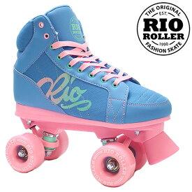RIO ROLLER クワッドスケート LUMINA Blue-Pink RIO240/245 ローラースケート 【smtb-k】[%OFF]【楽ギフ_包装】【w49】