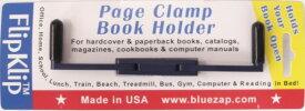 スィンク bluezap Flip Klip Page Clampブックホルダー ブルー FKP-BL