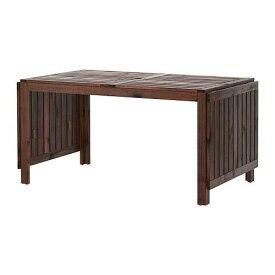 【期間限定】【IKEA/イケア/通販】 ÄPPLARÖ エップラロー ドロップリーフテーブル 屋外用, ブラウン ブラウンステイン(d)(20208532)【代引不可商品】