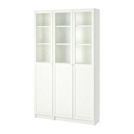 【IKEA/イケア/通販】 BILLY ビリー / OXBERG オクスベリ 書棚 パネル/ガラス扉付き, ホワイト, ガラス(a)(S59281791)【代引不可商品】