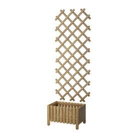 【IKEA/イケア/通販】 ASKHOLMEN アスクホルメン フラワーボックス トレリス付き 屋外用, グレーブラウンステイン(S39053926)