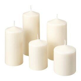 【IKEA/イケア/通販】 FENOMEN フェノメーン 香りなしブロックキャンドル5個セット, ナチュラル(c)(10377945)