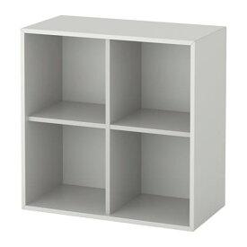 【期間限定】【IKEA/イケア/通販】 EKET エーケト キャビネット 4コンパートメント, ライトグレー(d)(30333955)