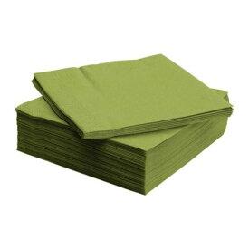 【IKEA/イケア/通販】 FANTASTISK ファンタスティスク 紙ナプキン, ミディアムグリーン/50 ピース(c)(60160142)