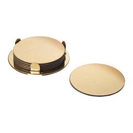 【IKEA/イケア/通販】 GLATTIS グラッティス コースター ホルダー付き, 黄銅色/6 ピース(f)(30343006)