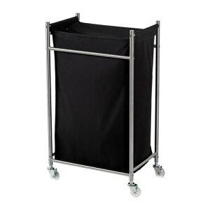 【IKEA/イケア/通販】 GRUNDTAL グルンドタール ランドリーバッグ キャスター付き, ステンレススチール, ブラック(e)(10219300)