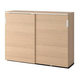 【IKEA/イケア/通販】 GALANT ガッラント キャビネット 引き戸付, ホワイトステインオーク材突き板(a)(60365134)