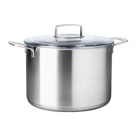 【IKEA/イケア/通販】 IKEA 365+ スープ鍋 ふた付, ステンレススチール, ガラス(d)(10256745)