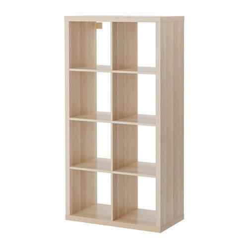 【期間限定】【IKEA/イケア/通販】 KALLAX シェルフユニット, ホワイトステインオーク調(d)(70362917)