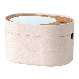 【IKEA/イケア/通販】 SAXBORGA サクスボルガ 収納ボックス ミラーのふた付き, プラスチック コルク(e)(00394016)