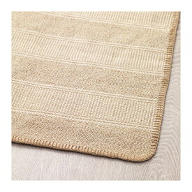 【IKEA/イケア/通販】 KLEJS クレイス ラグ 平織り, ベージュ‐ホワイト(f)(50418581)