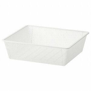 【IKEA/イケア/通販】JONAXEL ヨナクセル メッシュバスケット, ホワイト, 50x51x15 cm (00431311)[D]