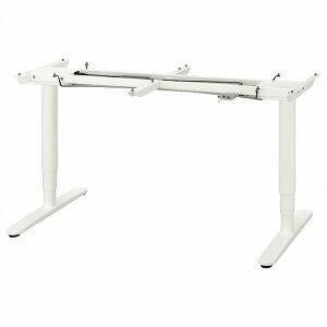 【IKEA/イケア/通販】BEKANT ベカント 下部フレーム 電動昇降機能付き, ホワイト, 160x80 cm (80325887)