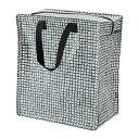 【IKEA/イケア/通販】 KNALLA クナラ バッグ, ブラック, ホワイト(c)(80330488)