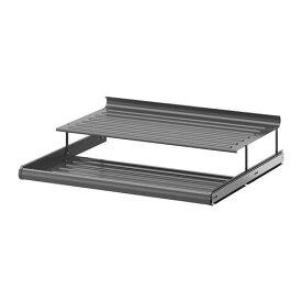 【IKEA/イケア/通販】 KOMPLEMENT コムプレメント 引き出し式シューズシェルフ, ダークグレー(f)(10257472)