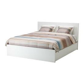 【IKEA/イケア/通販】 MALM マルム ベッドフレーム(高め) 収納ボックス4個付き, ホワイト, ルーローイ(a)(S69199461)【代引不可商品】